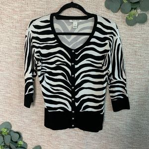 [White House Black Market] Zebra Cardigan